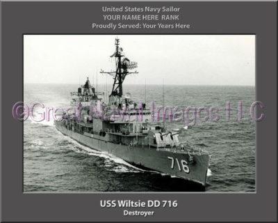 USS Wiltsie DD 716 Personalized Navy Ship Photo