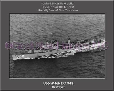 USS Witek DD 848 Personalized Navy Ship Photo
