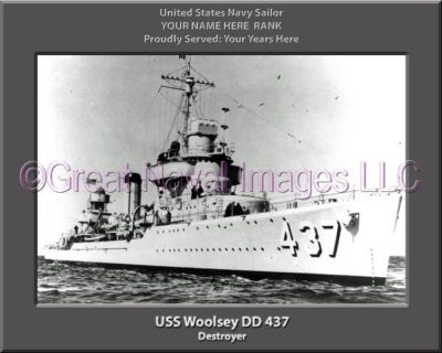 USS Woolsey DD 437 Personalized Navy Ship Photo