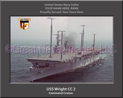 USS Wright CC 2 Personalized Navy Ship Photo on Canvas