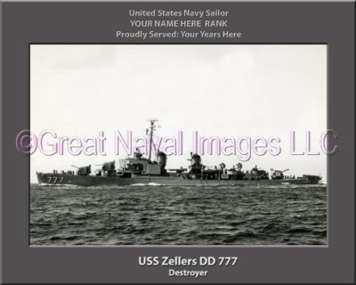 USS Zellers DD 777 Personalized Navy Ship Photo