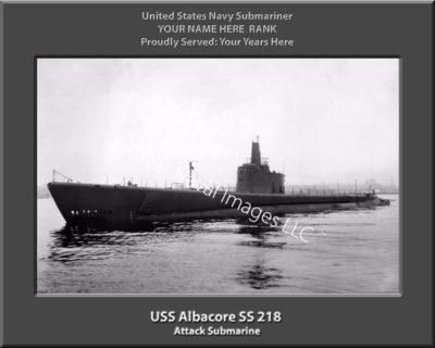 USS Albacore SS 218 Personalized Photo on Canvas