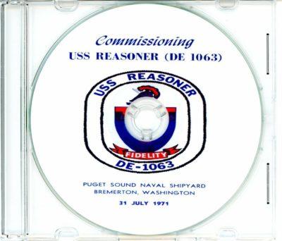 USS Reasoner DE 1063 Commissioning Program on CD