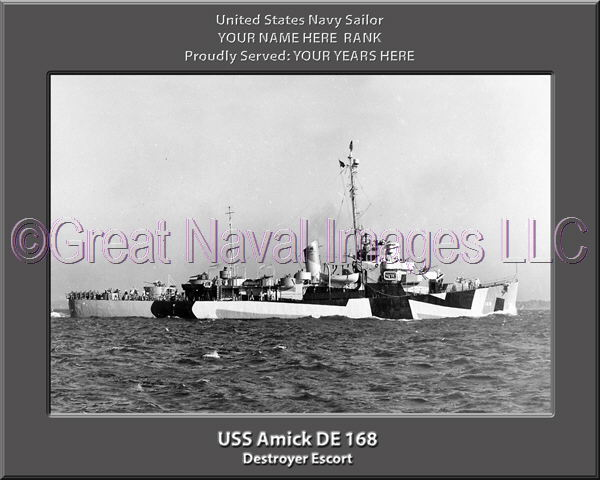 USS Amick DE 168 Personalized Navy Ship Photo