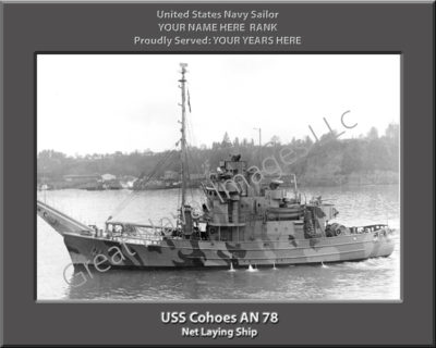 USS Cohoes AN 78 Personalized Navy Ship Photo