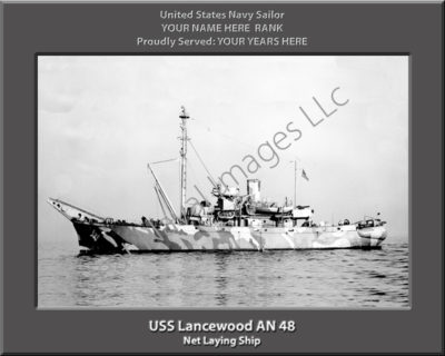 USS Lancewood AN 48 Personalized Navy Ship Photo