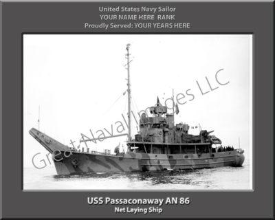 USS Passaconaway AN 86 Personalized Navy Ship Photo