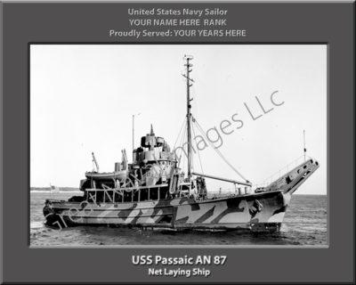 USS Passaic AN 87 Personalized Navy Ship Photo