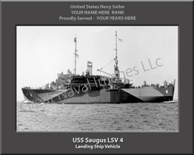 USS Saugus LSV 4 Personalized Navy Ship Photo