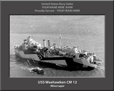 USS Weehawken CM 12 Personalized Navy Ship Photo