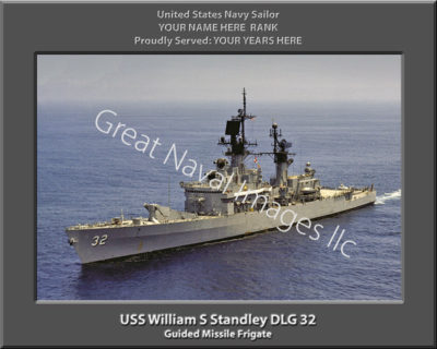 William S Standley DLG 32 Personalized Navy Ship Photo