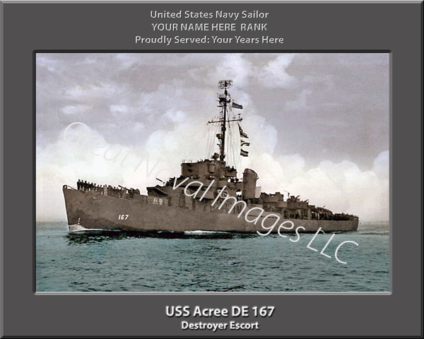 USS Acree DE 167 Personalized Navy Ship Print
