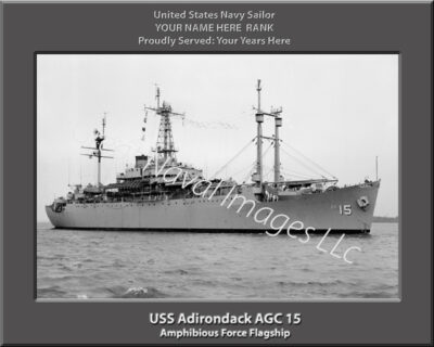 Adirondack AGC 15 Personalized Navy Ship Print