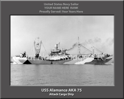 USS Alamance AKA 75 Personalized Navy Ship Print