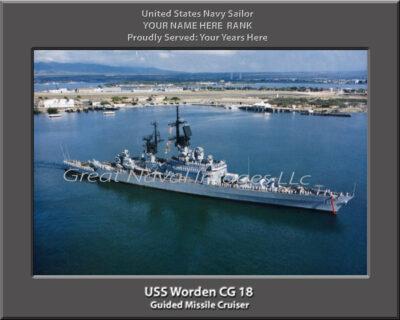 USS Worden CG 18 Personalized Navy Ship Photo