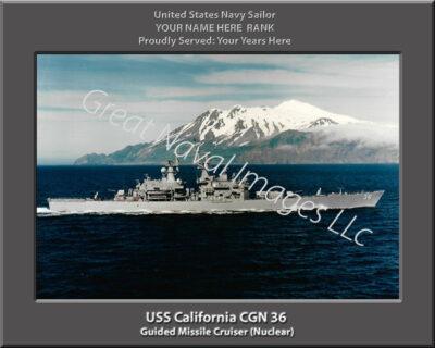 USS California CGN 36 Personalized Navy Ship Photo