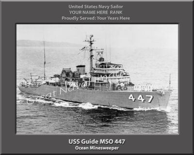 USS Guide MSO 447 Personalized Navy Ship Photo