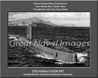 USs Halibut SSGN 587 Personalized Submarine Photo