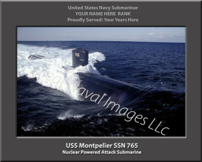 USS Montpelier SSN 765 Personalized Navy Submarine