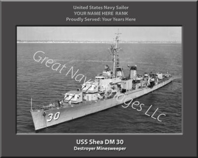 USS Shea DM 30 Personalized Navy Ship Photo